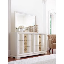 Tower Suite 6 Drawer Dresser with Mirror