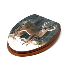 3D Upland Series Deer Elongated Toilet Seat