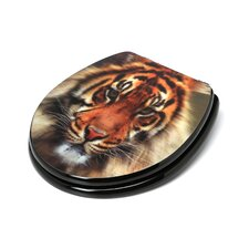 3D Series Tiger Round Toilet Seat