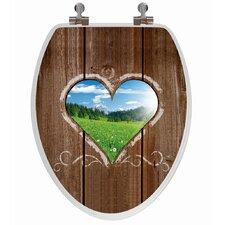 3D Series Love Window Elongated Toilet Seat