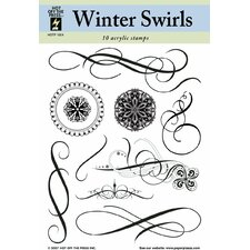 Winter Swirls Clear Stamp Set