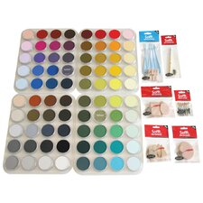 Pastels Assortment with Storage Trays (Set of 80)