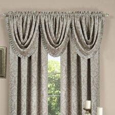 "Sutton Pleated Waterfall 52"" Curtain Valance"