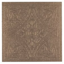 "Metallo 4"" x 4"" Vinyl Tile in Copper (Set of 27)"