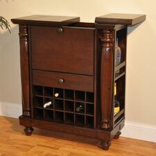 Rustic Bar with Wine Storage