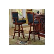 """Monticello 30"""" Swivel Bar Stool with Cushion (Set of 2)"""