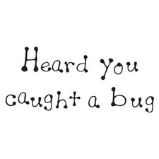 Mounted Rubber Caught A Bug Stamp (Set of 2)