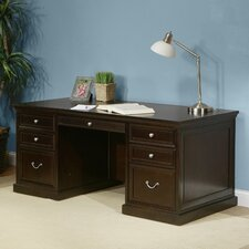 Fulton Double Pedestal Executive Desk with Wire Management
