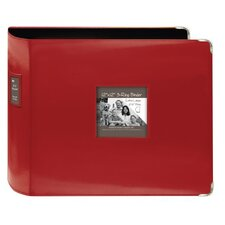 XL D Ring Leatherette Scrapbook Binder