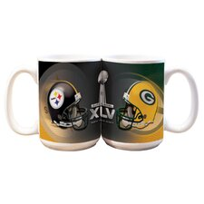 NFL 2011 Super Bowl 15 oz. Dueling Coffee Mug