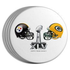 2011 Super Bowl Dueling Coasters (Set of 4)