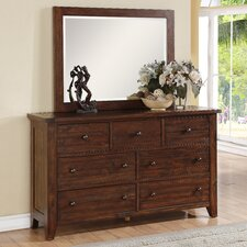 Cally 7 Drawer Dresser with Mirror