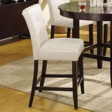 "Bossa 24"" Bar Stool with Cushion (Set of 2)"