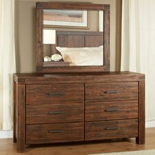 Meadow 6 Drawer Dresser with Mirror
