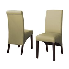 Cosmo Leather Parson Chair (Set of 2)