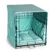 Plush Cratewear 3 Piece Dog Bedding Set