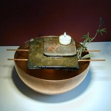 Asian Candle Tabletop Fountain