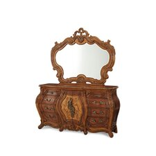 Palais Royale 8 Drawer Combo Dresser with Mirror