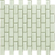 Murano Glass Mosaic Tile in Snow
