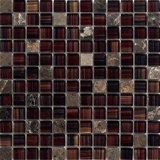 Oshawa Stone Composite, Glass Mosaic Tile in Walnut