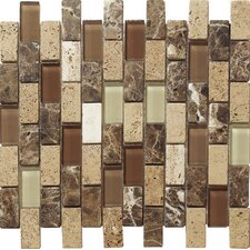 Pompeya Stone Composite, Glass Mosaic Tile in Stone