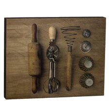 Summit Vintage Kitchen Utensils Wall Art