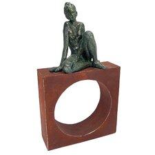 Geometric Models Girl Circle Figurine