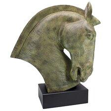 Modern Resin Tree Horse Bust