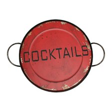 Cocktails Round Serving Tray