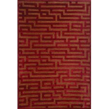 Napa Red/Medium Brown Maze Area Rug