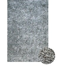 Lifestyle Shag Area Blue/Grey Rug