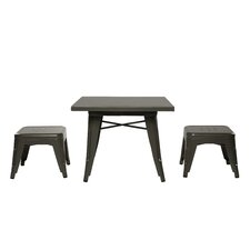 Lemonade 3 Piece Table & Stool Set