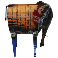 Recycled Oil Drum Elephant Sculpture