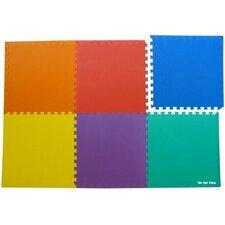 Sivan® 6 Piece Anti-Fatigue Interlocking Flooring Mat Set