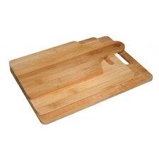 Bamboo 3 Piece Cutting Board Set