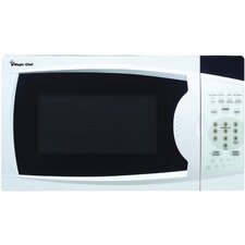0.7 Cu. Ft. 700W  Countertop Microwave in White