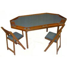 "72"" Deluxe Maple Folding Poker Table Set"