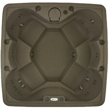 AR-600P Premium 6 Person 19 Stainless Steel Jets, 240V Spa with Stainless Steel Heater, Ozone and LED Waterfall