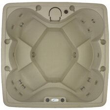 AR-600 6 Person 19 Stainless Steel Jets Spa Easy Plug-N-Play Spa with LED Waterfall