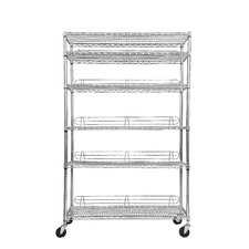 "NSF 77"" H 5 Shelf Shelving Unit Starter"
