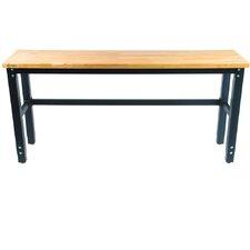 "72"" Wide Height Adjustable Wood Workbench"