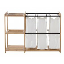 EcoStorage™ 3 Bag Bamboo Laundry Station