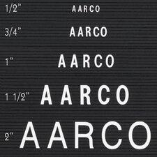 Single Tab Changeable Letters in Helvetica