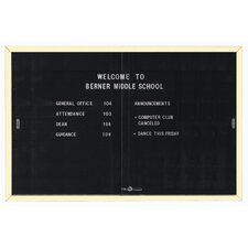 Directory Enclosed Wall Mounted Bulletin Board