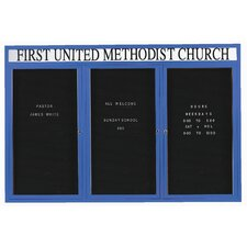 Directory Cabinet Enclosed Wall Mounted Letter Board