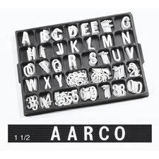 Universal Single Tab Helvetica Typeface Changeable Letters (276 characters per set)