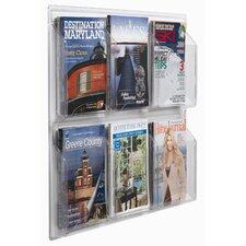 Clear-Vu 6 Pocket Magazine and Literature Display