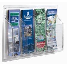 Clear-Vu 4 Pocket Pamphlet Display