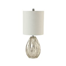 "Creek Classics Diamond Glass 23.5"" H Table Lamp with Drum Shade"
