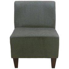 Penelope Armless Amanda Green Slipper Chair
